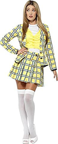 Smiffy's Official Clueless Cher Suit Women's Costume (Small, Yellow)