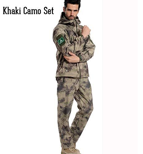 Tarnung Shjzom Tactical Gear Camouflage Jacket Herren Army Wasserdicht Warm Camo Kleidung Windbreaker Fleece Coat Military Jacket Set Yellow camo S Wool Field Coat