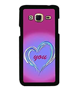 printtech Love You Back Case Cover for Samsung Galaxy J3 Pro