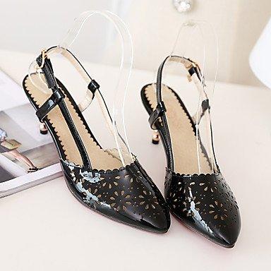 LvYuan Sandali-Ufficio e lavoro Formale Casual-Club Shoes-A stiletto-PU (Poliuretano)-Nero Verde Rosa Rosso Black