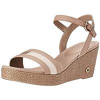 Tommy Hilfiger Th Round Hardware Mid Wedge, Women's Fashion Sandals, Grey (Cobblestone), 4 UK (37 EU)