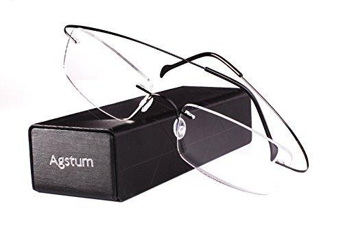 AgstumA-10200 - randlos Unisex-Erwachsene, Schwarz (schwarz), Medium