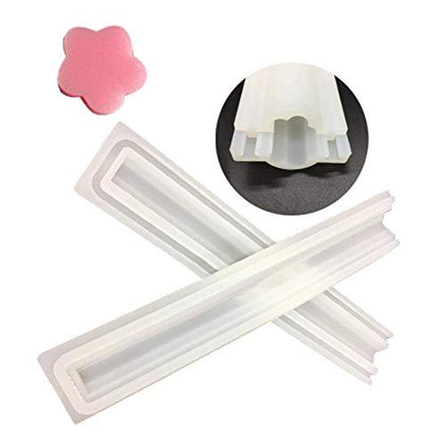 eifenform Säulen-Kerzenformen für Handgemachte Seife, Gelee, Pudding, Kuchen Backen Antihaft-Schimmel (Pflaume) ()