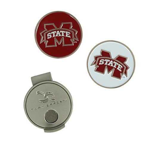 te Hut-Clip und 2 Ballmarker, Mississippi State Bulldogs Hat Clip & 2 Ball Markers, Mississippi State ()
