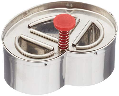 Städter Brezel m. Auswerfer 6,5 cm, Edelstahl, Silber-rot, 6.5 x 6.5 x 6.5 cm