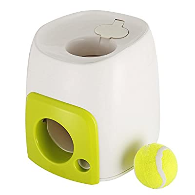ORPERSIST Pet Throwing Machine Automatic Pitching Machine Food-Leaking Toys Pet Supplies(With Small Ball) by ORPERSIST