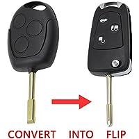 3 Botones Focus, MONDEO, remoto plegable Clave Flip Shell Case para Ford Uncut Blank
