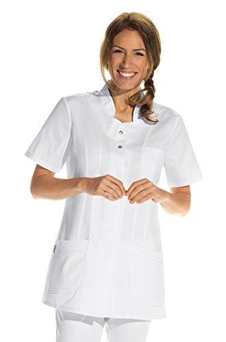 clinicfashion 10114039 Kurzkasack weiß für Damen, Mischgewebe, Größe 46