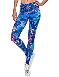 1b9e2b09eb995c CHIC DIARY Damen bunt Sport Strumpfhose Leggings mit muster Fitness Yoga  Joggen Pants Hose Mehrfarbig One…