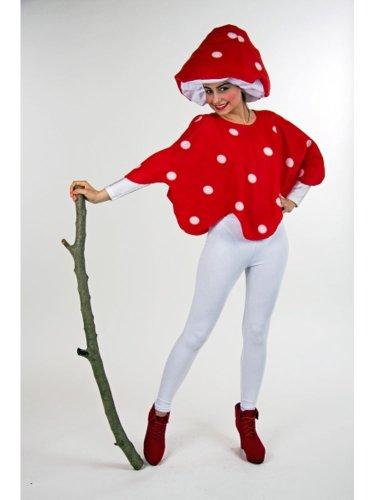 Generique - Fliegenpilz Kostüm rot und weiß Damen