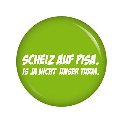 Preisvergleich Produktbild Kiwikatze® Sprüche - Scheiz auf Pisa. Ist ja nicht unser Turm - 37mm Button Pin Ansteckbutton als Geschenk oder Mitbringsel