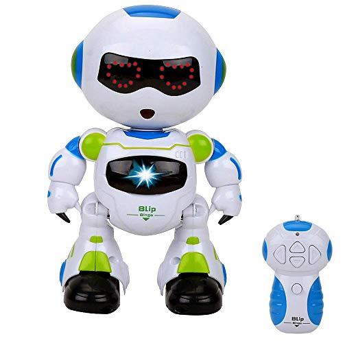 Dreamtoys RC ROBIX BLip - Ferngesteuerter Roboter mit roten LED Augen-NEUHEIT 2018!Dieser Roboter Macht eine Mega Stimmung!!Eingebauter Demo Modus Musik Funktionen!Super Geschenk zu Weihnachten!