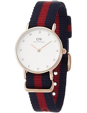 Daniel Wellington Damen-Armbanduhr XS Classy Oxford Analog Quarz Nylon DW00100064