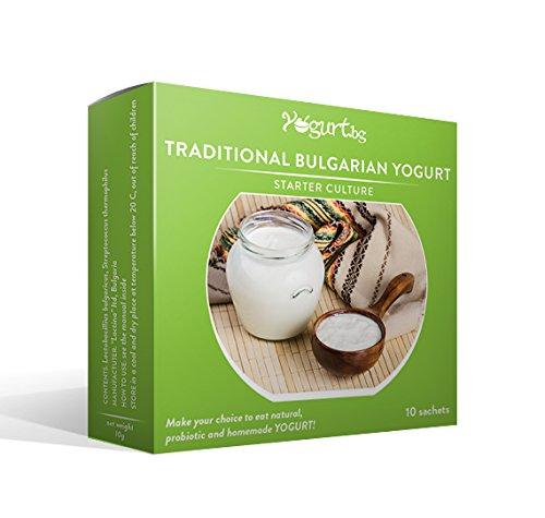 Yogurt.bg Starter Kultur für traditionellen Bulgarischen Joghurt - 10 Beutel für 10 Liter originalen hausgemachten bulgarischen Milchprodukt (Starter Joghurt)