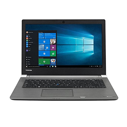 Toshiba Tecra A40-C-1X6 14-inch Busniess Laptop Intel Core i5-6200U 2.3 GHz / 2.8 GHz Turbo Processor, 8GB RAM, 128GB SSD, HD Display (1366 x 768 Resolution), Backlit Keyboard, Light Weight, Fingerprint Reader, Windows 10 Pro - PS463E-0CN03HEN