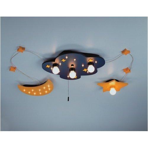 niermann kinderlampe deckenleuchte mond sterne wolke. Black Bedroom Furniture Sets. Home Design Ideas