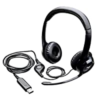 Logitech H390 Wired Headset, Stereo Headphones with Noise-Cancelling Microphone, USB, In-Line Controls, PC/Mac/Laptop - Black