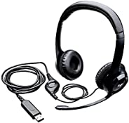 Logitech H390 Wired Headset, Stereo Headphones with Noise-Cancelling Microphone, USB, In-Line Controls, PC/Mac