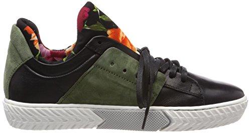 Mjus Damen 910103-0102-0001 Sneaker Mehrfarbig (Nero+Elfo+Nero)