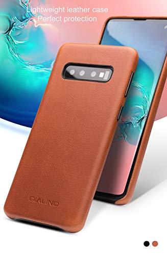 COVO® Coque Samsung Galaxy S10 Plus,Coque arrière pour Affaires Classique,Fait à la Main Etui Premium en Cuir de Vache Coques arrière pour S... 11