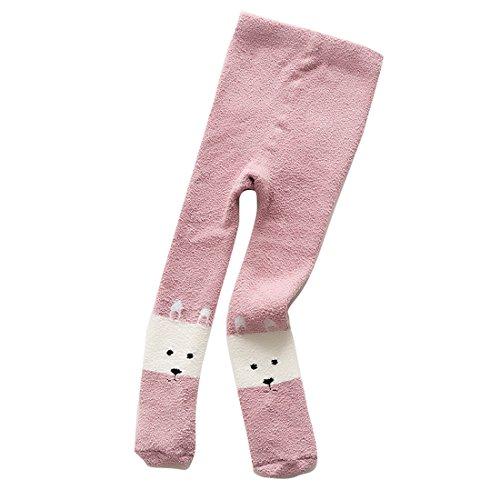 nuovo prodotto abbastanza economico shop Calze Collant Bimbe Invernali Eleganti Disegno Animale Felpate Termiche 0-3  Anni by Gaorui