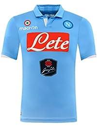 Macron – Camiseta de fútbol Race S.S. de Napoli 2014 2015 ...