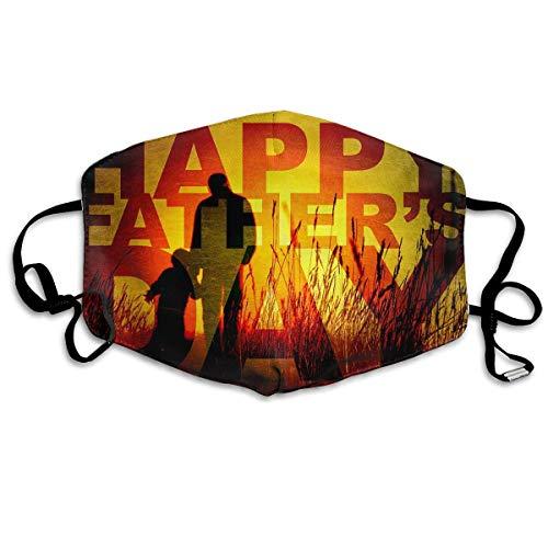 Kinder Ufc Kostüm - Daawqee Mund Maske, Gesichtsmaske Father's Day Reusable Washable Earloop Face Mouth Mask for Men Women