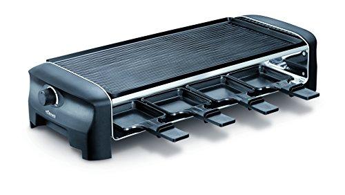 Koenig B02220E Raclette Gourmet 8 (1200 Watt) schwarz