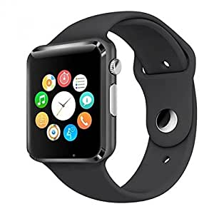 Lenovo A730 Compatible Certified Bluetooth Smart Watch GT08 Wrist Watch Phone with Camera & SIM Card Support Hot Fashion New Arrival Best Selling Premium Quality Lowest Price with Apps like Facebook, Whatsapp, QQ, WeChat, Twitter, Time Schedule, Read Message or News, Sports, Health, Pedometer, Sedentary Remind & Sleep Monitoring, Better Display, Loud Speaker, Microphone, Touch Screen, Multi-Language, Compatible with Android iOS Mobile Tablet PC iPhone-Black by SONTIGA