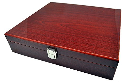 Uhrenhuette Aufbewahrungsbox 10 Uhren Uhrenbox 8-fach lackiert Palisander 10221