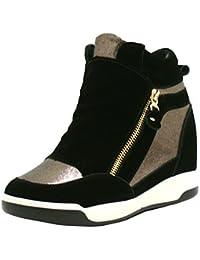 SHU CRAZY Zapatos con Tacón Chica Mujer, Color Beige, Talla 36.5