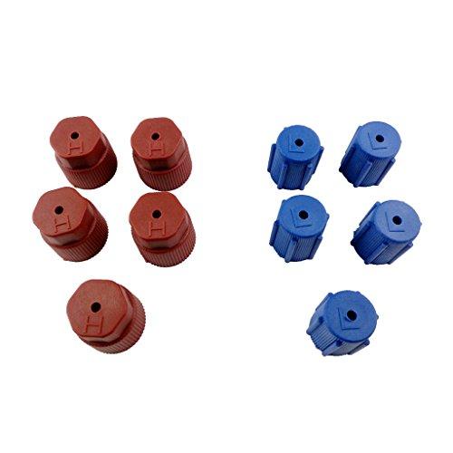 Generic AC Porta Di Ricarica Lato R134a Condizionatore Tappo 13mm Blu E Marrone 16 Millimetri (R134a Porta Di Servizio)