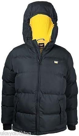 Caterpillar infant hooded jacket puffa coat 2-4 yrs (2 YRS, Black)