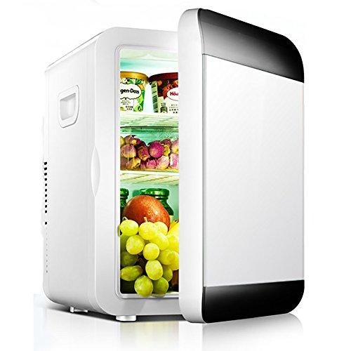 DULPLAY Auto Mini frigo portatile,Raffreddamento e caldi - 20 litri Per la casa Ufficio Auto Barca o dormitorio Compatto portatile & Cavi di alimentazione AC e DC-A 41x33x28.5cm(16x13x11inch)