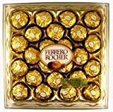 Ferrero Rocher Fine Hazelnut Chocolate 24 Piece Gift Box, Net Wt 10.6 Oz (300g) by Ferrero