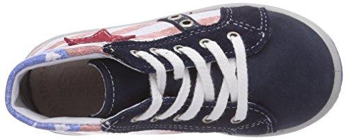 Ricosta Flag Unisex-Kinder Hohe Sneakers Blau (nautic/rot 353)