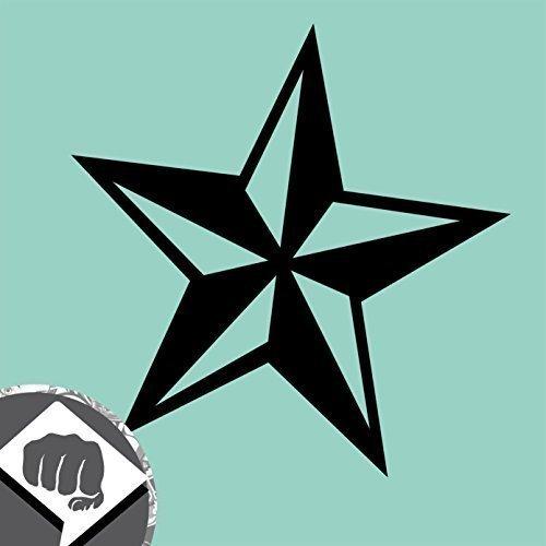 Tattoo Nautical Stars (NAUTISCHER STERN Sticker - nautical star US Tattoo Aufkleber - DUB (schwarz))