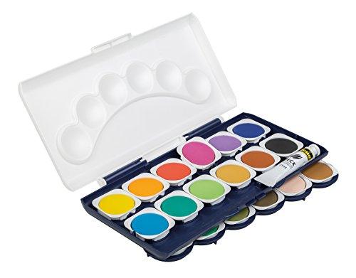 Idena 22064 - Deckfarbkasten mit 24 Farben und 1 Tube Deckweiß - 3