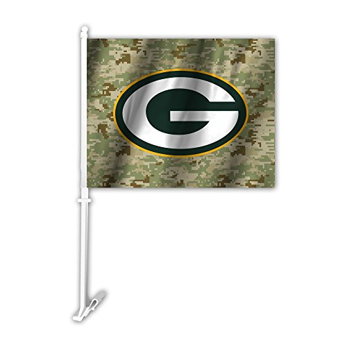 Fremont Die NFL Green Bay Packers Camo KFZ Flagge, grün, One Size Fremont Satin