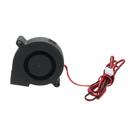 5Pcs DC 12V 2 Pin 0.13A 50mm Brushless Turbine Blower Cooling Fan for 3D Printer - Ball Bearing Fan Motor