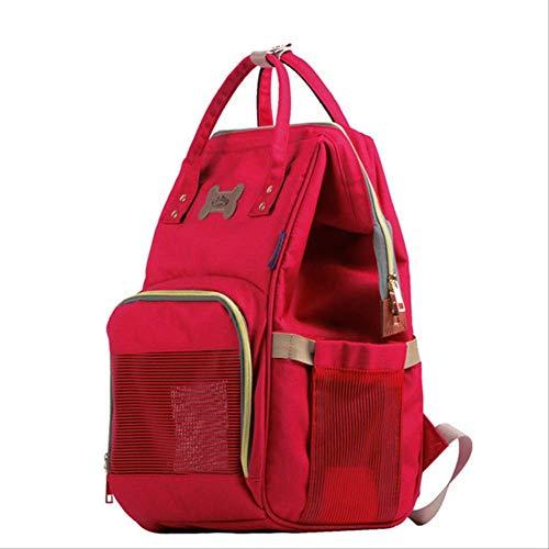 Tierträger Mode Denim Hund Träger Haustier Rucksack Katze Reisetaschen Für Kleine Hunde Tiere Welpen Chihuahua Handtasche Umhängetasche Britischen Stil M Länge 45 Cm, Breite 20 Cm, Höhe 30 Cm Rot -