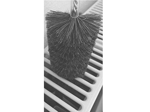 EXCOLO Original Reinigungsbürsten gegen Staub im Heizkörper Heizungsreinigung Bürste Heizkörperreinigung Heizkörperbürste 120 cm lang Borsten aus Ziegenhaar -
