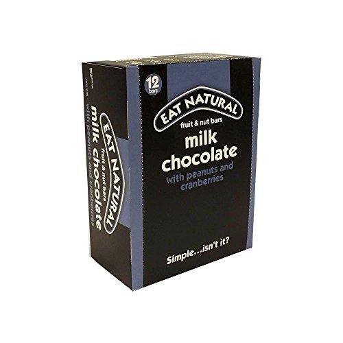 EAT NATURAL Fruchtriegel Erdnuss & Cashewnuss mit Milchschokolade VE-12 Stück