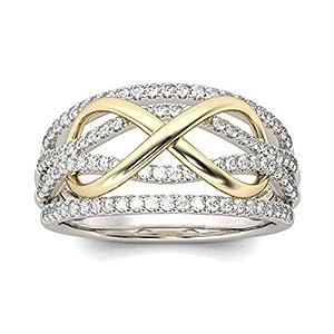 YSoutstripdu 8 Formen glänzende Strasssteine für Frauen Hochzeit Verlobung Versprechen Ring Schmuck Dekoration