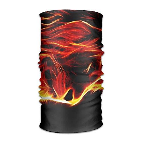 VTYOSQ Lion Fire Frauen & Männer Nackenschutz Magic Headwear Stirnband Gesicht Bandana Maske Sport Schal Neckwarmer Headwrap -