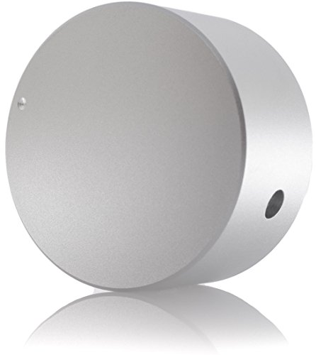 Hifi Lab Poti-Knopf Alu 40x22 Audio Drehknopf Aluminium massiv silber 6,35mm Potentiometer Knopf Alu-Knopf