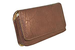 Branded Premium Hand Pouch For BlackBerry Bolt 9650 - Brown - HDPBR43#0173