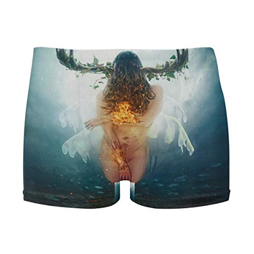 best gift Mens Swim Trunks Girl Deer Boxer Briefs Board Short Beach Shorts Men Swimming Briefs Swimwear M -