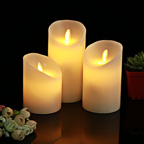 Homemory Batteriebetriebene LED Tea Lights, Packung Von 24, Flameless  Votive Tealights Kerze Mit