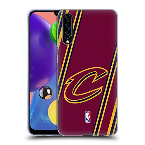 Head Case Designs Offizielle NBA Streifen Cleveland Cavaliers Soft Gel Huelle kompatibel mit Samsung Galaxy A70s (2019) -